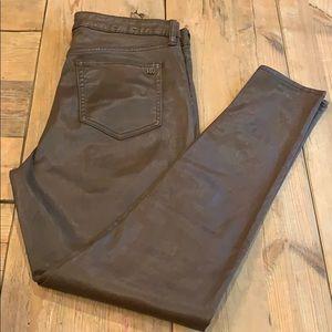 Lauren by Ralph Lauren faux lthr coated jeans sz10